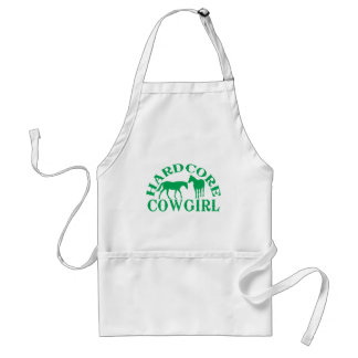 A262 hardcore cowgirl green adult apron