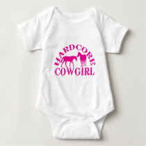 A262 hardcore cowgirl hot pink baby bodysuit