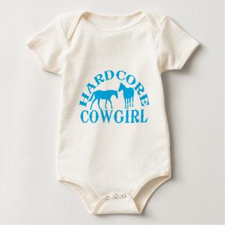 A262 hardcore cowgirl light blue baby bodysuit