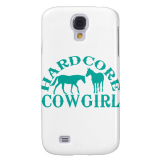 A262 hardcore cowgirl teal samsung galaxy s4 case