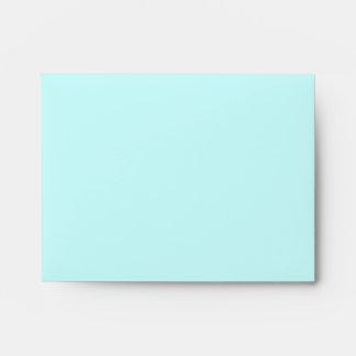 A2 Aqua Blue Polka Dot Flower Pastel Envelopes