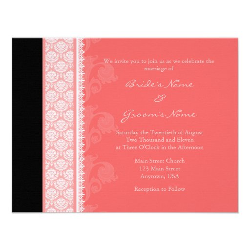 Personalized Coral wedding Invitations – Coral Wedding Invitations