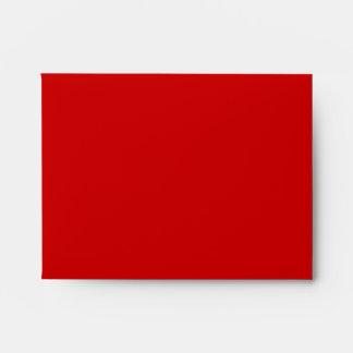 A2 Crimson Red Damask Flap Monogram Envelopes