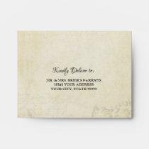 A2 Elegant RSVP Wedding Vintage Paris Parchment Envelope