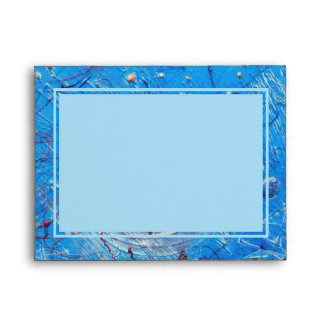 A2 Envelopes. Blue Abstract Printed Pattern