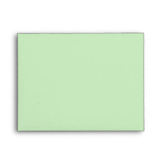 A2 Green Polka Dot Flower Pastel Envelopes