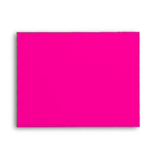 A2 Hot Pink Damask Flap Monogram Envelopes