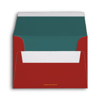 A2 Indian Red plus Teal lining Envelope