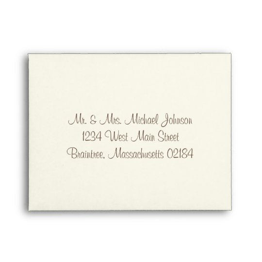 A2 Ivory RSVP With Return Address Envelope