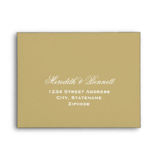 A2 Light Antique Gold Response Envelopes