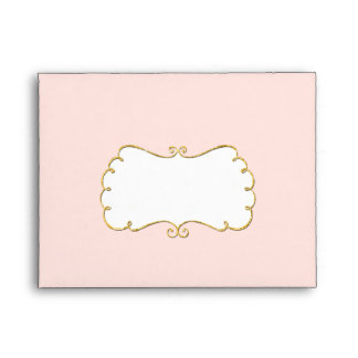 A2 Our Little Princess Gold Sparkle Glitter Classy Envelope