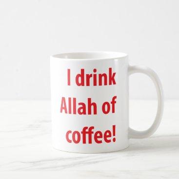 Coffee Themed A2 Red Mug