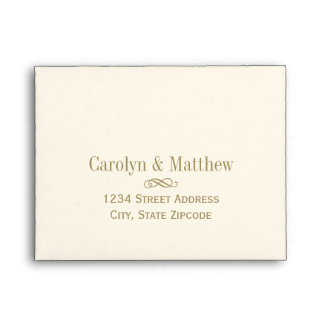 A2 RSVP Envelope Antique Gold Return Address