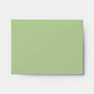 A2 Sage Green Envelope with Return Address