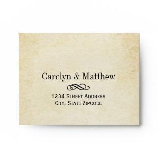 A2 Wedding RSVP Envelopes | Vintage Flourish