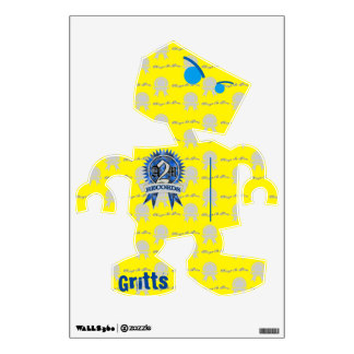 """A2M """"GRITTS"""" Robot wall Decal"""