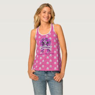 A2M Pink label razor back shirt