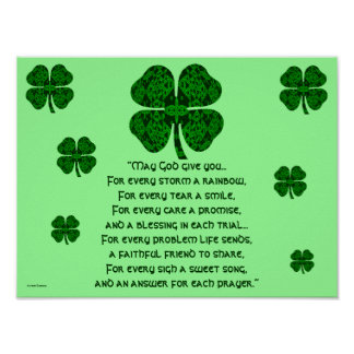 A30 Celtic caleidoscópico - bendición irlandesa 5 Póster