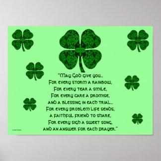 A30 Kaleidoscopic Celtic - Irish Blessing 5 Poster