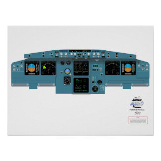 A320 Forward Panel Poster