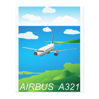 A321 Airliner Vector Canvas Print