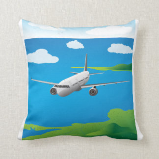 A321 Airliner Vector Kid's Pillow