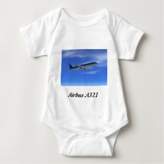 A321 Jet Airliner Aircraft Baby Bodysuit