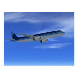 A321 Jet Airliner Aircraft Postcard
