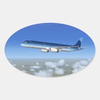 A321 Jet Airliner Aircraft Sticker