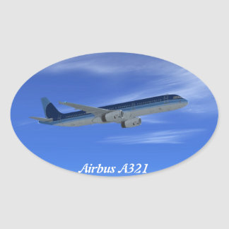 A321 Jet Airliner Aircraft Stickers