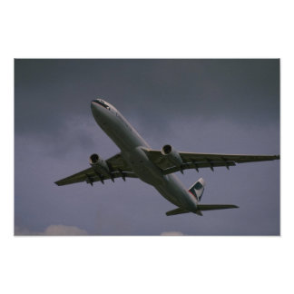A330 airbus, Cathay Pacific airliner Poster