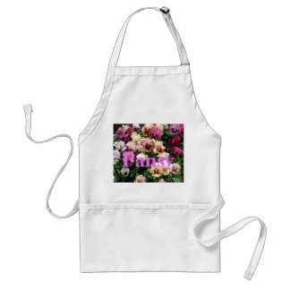 a3 Pink Pansy Party Adult Apron