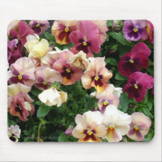 a3 Pink Pansy Party Mouse Pads