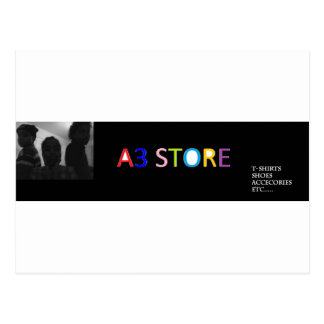 a3 STORE HEADER Postcard
