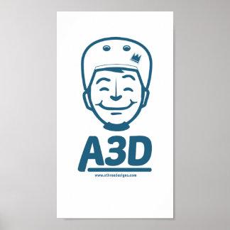 A3D Logo Poster Blue Poster