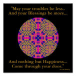 A40b Kaleidoscopic Mandala - Irish Blessing.2 Posters
