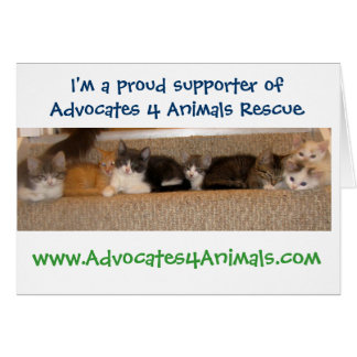 A4A Rescue GREETING CARDS! Card