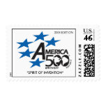 """A500-Flag-logo,  """"SPIRIT OF INVENT... - Customized Postage Stamps"""