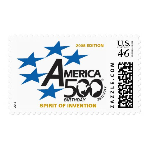 A500-Flag-logo,  SPIRIT OF INVENTION, 2008 EDITION Stamps