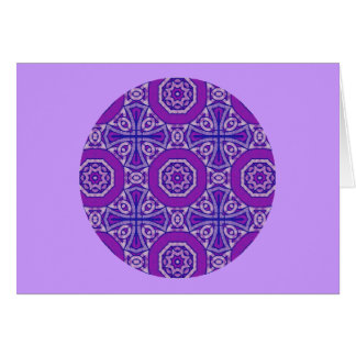 A50 Celtic Kaleidoscopic Cross Greeting 3 Card