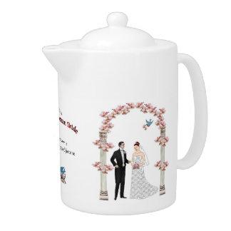A51 Cherry Blossom Bride Teapot