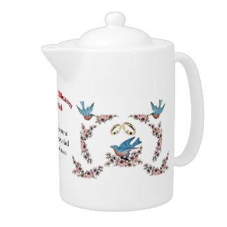 A57 Cherry Blossom Bride Teapot