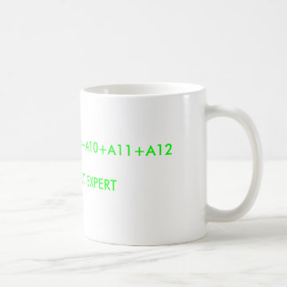 A5+A6+A7+A8+A9+A10+A11+A12SPREADSHEET EXPERT COFFEE MUG