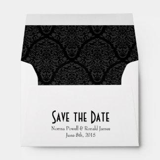 A6 4x6 Black White Save the Date Envelopes