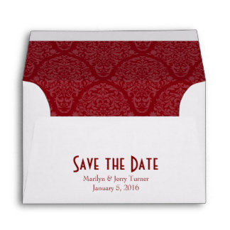 A6 4x6 Burgundy Red White Save the Date Envelopes