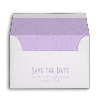 A6 4x6 Lavender White Save the Date Envelopes