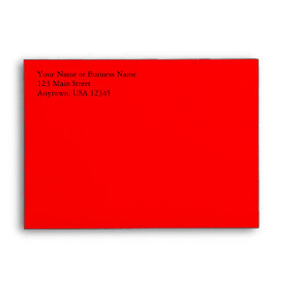 A6 Bright Red Pre-Addressed Envelopes