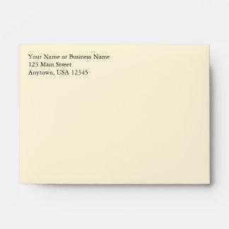 A6 Cream Pre-Addressed Envelopes