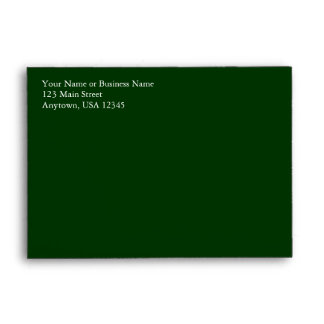 A6 Dark Hunter Forest Green Pre-Addressed Envelope