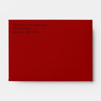 A6 Dark Red Pre-Addressed Envelopes
